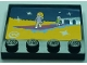 Part No: 6179pb102  Name: Tile, Modified 4 x 4 with Studs on Edge with TV Screen Fashion Runway, Stars and Metallic Chrome Slippers Pattern (Sticker) - Set 41095