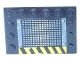 Part No: 6180pb010b  Name: Tile, Modified 4 x 6 with Studs on Edges with Grille and Black and Yellow Danger Stripes Pattern Side B (Sticker) - Set 6208