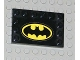 Part No: 6180pb011  Name: Tile, Modified 4 x 6 with Studs on Edges with Batman Logo Pattern (Sticker) - Set 7783