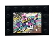 Part No: 6180pb136  Name: Tile, Modified 4 x 6 with Studs on Edges with Skull and Ship on Holographic Background Pattern (Sticker) - Set 41375