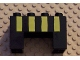 Part No: 6394pb01  Name: Duplo, Brick 2 x 4 x 2 with 2 x 2 Cutout on Bottom with Four Yellow Stripes Pattern