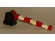 Part No: 6405c02  Name: Duplo, Train Crossing Gate Base with Red Duplo, Train Crossing Gate Crossbar with Small Handle with White Stripes Pattern