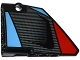 Part No: 64394pb004  Name: Technic, Panel Fairing #13 Large Short Smooth, Side A with Carbon Fiber Air Intake Pattern (Sticker) - Set 42036