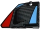 Part No: 64680pb004  Name: Technic, Panel Fairing #14 Large Short Smooth, Side B with Carbon Fiber Air Intake Pattern (Sticker) - Set 42036