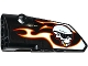Part No: 64683pb025  Name: Technic, Panel Fairing # 3 Small Smooth Long, Side A with Red, Orange and White Flames and Skull with Sunglasses Pattern (Sticker) - Set 42046
