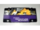 Part No: 64782pb045  Name: Technic, Panel Plate 5 x 11 x 1 with White 'EXTREME ADVENTURE SUPPORT' on Dark Purple Background Pattern (Sticker) - Set 42069