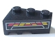 Part No: 6564pb10  Name: Wedge 3 x 2 Right with Red and Yellow Console Display Pattern (Sticker) - Set 8479