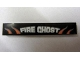 Part No: 6636pb085  Name: Tile 1 x 6 with 'FIRE GHOST' Pattern (Sticker) - Set 8165