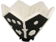 Part No: 66962c01  Name: Dice Spinner with White Inside and Hexagonal Dots, Hearts and Skulls Pattern