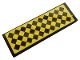 Part No: 69729pb001  Name: Tile 2 x 6 with Black and Yellow Rhombus Pattern (Sticker) - Set 21324