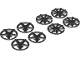Part No: 72210  Name: Wheel Cover 5 Spoke and 9 Spoke for Wheel 72206c01, 8 in Bag - 4 of Each (Multipack)