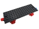 Part No: 736c02  Name: Train Base 6 x 16 Type I with Wheels and Red and Blue Magnets