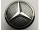 Part No: 75902pb19  Name: Minifigure, Shield Round with Rounded Front with Silver Grille and Mercedes-Benz Logo Pattern