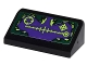 Part No: 85984pb010  Name: Slope 30 1 x 2 x 2/3 with Targets on Dark Green and Purple Background Pattern (Sticker) - Set 9443