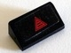Part No: 85984pb046  Name: Slope 30 1 x 2 x 2/3 with Red Triangle Pattern (Sticker) - Set 70816