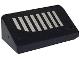 Part No: 85984pb069L  Name: Slope 30 1 x 2 x 2/3 with 8 Silver Stripes Pattern Model Left Side (Sticker) - Set 6864