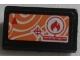 Part No: 85984pb166  Name: Slope 30 1 x 2 x 2/3 with Orange Satellite Map and Fire Icon Pattern (Sticker) - Set 60010