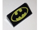Part No: 85984pb186  Name: Slope 30 1 x 2 x 2/3 with Batman Logo Pattern (Head Facing Thick End of Slope)