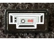 Part No: 85984pb315L  Name: Slope 30 1 x 2 x 2/3 with Control Panel with Black and Red Buttons Pattern Model Left Side (Sticker) - Set 75291