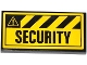Part No: 87079pb0135  Name: Tile 2 x 4 with Danger Stripes and 'SECURITY' Pattern (Sticker) - Set 4207