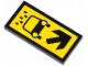 Part No: 87079pb0136  Name: Tile 2 x 4 with Water Drops, Car and Black Arrow Pattern (Sticker) - Set 4207
