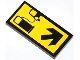 Part No: 87079pb0137  Name: Tile 2 x 4 with Gas/Fuel Pump, Car and Black Arrow Pattern (Sticker) - Set 4207