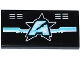 Part No: 87079pb0270  Name: Tile 2 x 4 with Silver and Medium Azure Circuitry, Vents and Ultra Agents Logo Pattern (Sticker) - Set 70173