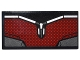 Part No: 87079pb0280  Name: Tile 2 x 4 with Dark Red and Silver Body Armor Panel Pattern (Sticker) - Set 76051