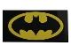 Part No: 87079pb0317  Name: Tile 2 x 4 with Batman Logo Oval Pattern