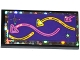 Part No: 87079pb0377  Name: Tile 2 x 4 with Stars and Pink and Bright Light Orange Arrows on Dark Purple Background Pattern (Sticker) - Set 41130