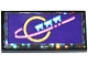 Part No: 87079pb0378  Name: Tile 2 x 4 with Planet and Roller Coaster Wagons on Dark Purple Background Pattern (Sticker) - Set 41130