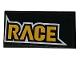 Part No: 87079pb0520R  Name: Tile 2 x 4 with Yellow 'RACE' Pattern (Sticker) - Set 60144