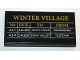 Part No: 87079pb0546  Name: Tile 2 x 4 with 'WINTER VILLAGE' and Train Schedule Pattern (Sticker) - Set 10259