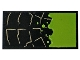 Part No: 87079pb0614  Name: Tile 2 x 4 with Stone Outline and Lime Bubbling Slime Pattern (Sticker) - Set 76056