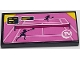 Part No: 87079pb0623  Name: Tile 2 x 4 with Two Players on Pink Tennis Court and 'TV' Pattern (Sticker) - Set 41314
