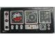 Part No: 87079pb0707L  Name: Tile 2 x 4 with Airplane Gauges and Buttons on Black Background Pattern Model Left Side (Sticker) - Set 9396