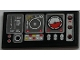 Part No: 87079pb0707R  Name: Tile 2 x 4 with Airplane Gauges and Buttons on Black Background Pattern Model Right Side (Sticker) - Set 9396