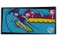 Part No: 87079pb0714  Name: Tile 2 x 4 with Girl Surfing and 'TV' Pattern (Sticker) - Set 41317