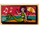 Part No: 87079pb0759  Name: Tile 2 x 4 with Mermaid on Beach, Music Notes, Umbrella and 'TV' Pattern (Sticker) - Set 41313