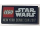 Part No: 87079pb0762  Name: Tile 2 x 4 with LEGO STAR WARS NEW YORK COMIC CON 2017 Pattern