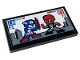 Part No: 87079pb0897  Name: Tile 2 x 4 with Red Skull, Captain America, 'CA', 'RS', 'P1' and 'P2' Pattern (Sticker) - Set 76166