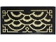 Part No: 87079pb0985  Name: Tile 2 x 4 with Gold Half Circles with Geometric Border Pattern (Sticker) - Set 70657