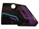 Part No: 87080pb048  Name: Technic, Panel Fairing # 1 Small Smooth Short, Side A with Dark Purple and Medium Azure Pattern (Sticker) - Set 70642