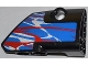Part No: 87086pb005  Name: Technic, Panel Fairing # 2 Small Smooth Short, Side B with Red and White Swirls on Blue Pattern (Sticker) - Set 42010