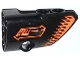Part No: 87086pb010  Name: Technic, Panel Fairing # 2 Small Smooth Short, Side B with 'PULL BACK' and Orange Arrows Pattern (Sticker) - Set 42026