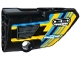 Part No: 87086pb020  Name: Technic, Panel Fairing # 2 Small Smooth Short, Side B with Grille and Sponsor Logos on Blue, Yellow and Black Background Pattern (Sticker) - Set 42034