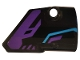 Part No: 87086pb048  Name: Technic, Panel Fairing # 2 Small Smooth Short, Side B with Dark Purple and Medium Azure Pattern (Sticker) - Set 70642
