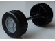 Part No: 88762c02pb01  Name: Duplo Wheel Double Assembly with Tread and Metal Axle and Light Bluish Gray Classic Pattern
