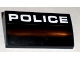 Part No: 88930pb003  Name: Slope, Curved 2 x 4 x 2/3 with Bottom Tubes with White 'POLICE' Pattern (Sticker) - Set 8211