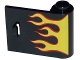 Part No: 92263pb002  Name: Door 1 x 3 x 2 Right - Open Between Top and Bottom Hinge with Red and Yellow Flames Pattern